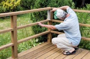 deck inspection. deck safety. inspect deck railing