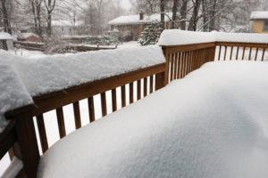 Winterize Deck. Protect deck from snow and rain. Prevent Water Damage on Deck