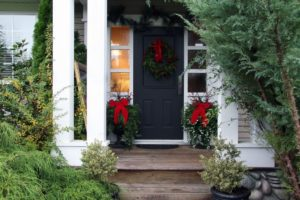 holiday decorations, outdoor Christmas decorating, winter curb appeal