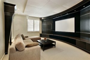 home theater. basement remodel trends. basement theater