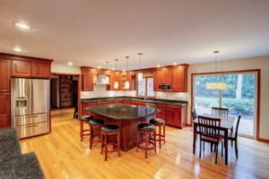 kitchen flooring. types of kitchen floor. hardwood flooring for ktichen