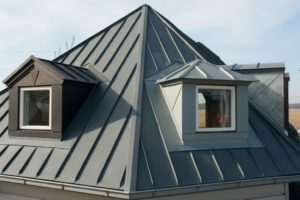 roofing material. metal roof shingles. new roof