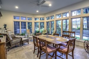 sunroom addition, home remodeling, entertaining guests