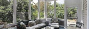 Howard County sunroom conversion, sunroom windows