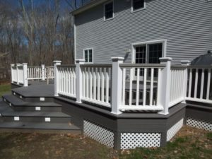 deck colors, dark gray stain, deck staining