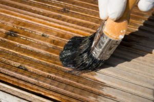 deck staining, paint railings, how to stain old deck