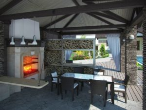 outdoor kitchen, wood burning oven, outdoor cooking