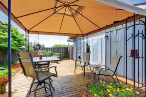 wooden deck, protect deck from sunlight,