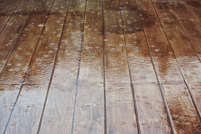 water damage on deck, mold and mildew on decks