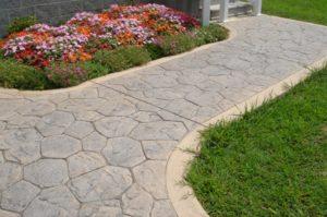 concrete walkway, pavers, paved walkway