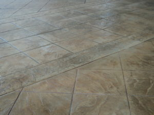concrete pavement, stamped concrete design