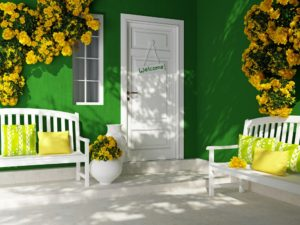 curb appeal front porch seating. entryway, front door benches