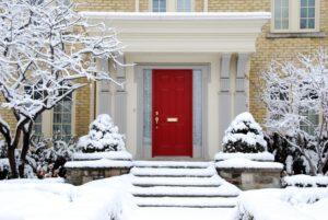 insulate entryway door in the winter. prepare front door for winter