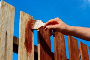 fence repair ideas. refinishing your old fence. staining fences