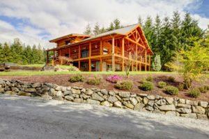 hillside deck building. deck foundation on a slope.