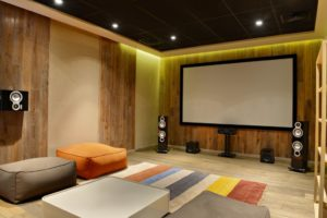home theater. basement remodeling ideas. home theater sound system.