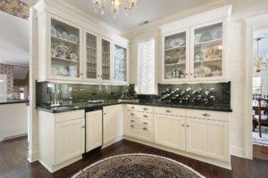 small kitchen remodel. glass cabinets in kitchen. kitchen renovation ideas
