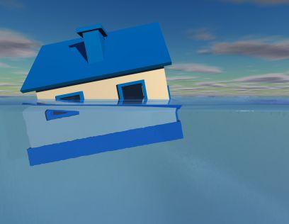 water damage, water damaging home