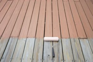 wood paint. wood stain. painting deck
