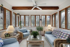 Howard County sunroom conversion, converting a deck into a sunroom