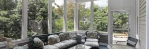 Howard County sunroom conversion, sunroom windows