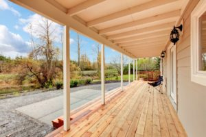 covered deck, wooden decking, design deck