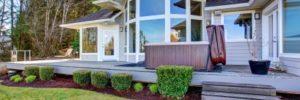 deck landscaping, outdoor living, backyard deck