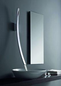 modern faucet, modern bathroom design, wall-mount faucet
