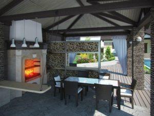 outdoor kitchen, wood burning oven, outdoor cooking