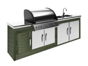 outdoor kitchen, grilling outdoors, cook outside
