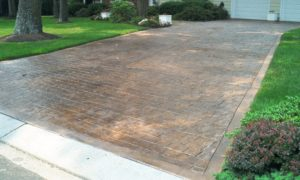 driveway, concrete, pavers