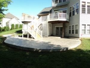 stamped concrete patio, patio design ideas