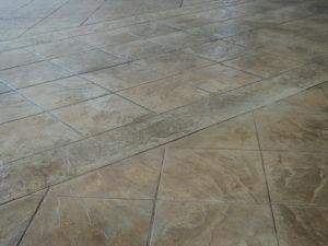 concrete pavement, stamped concrete design