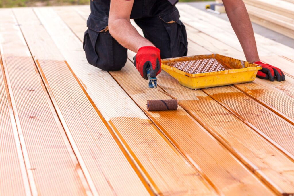 remove old deck stains